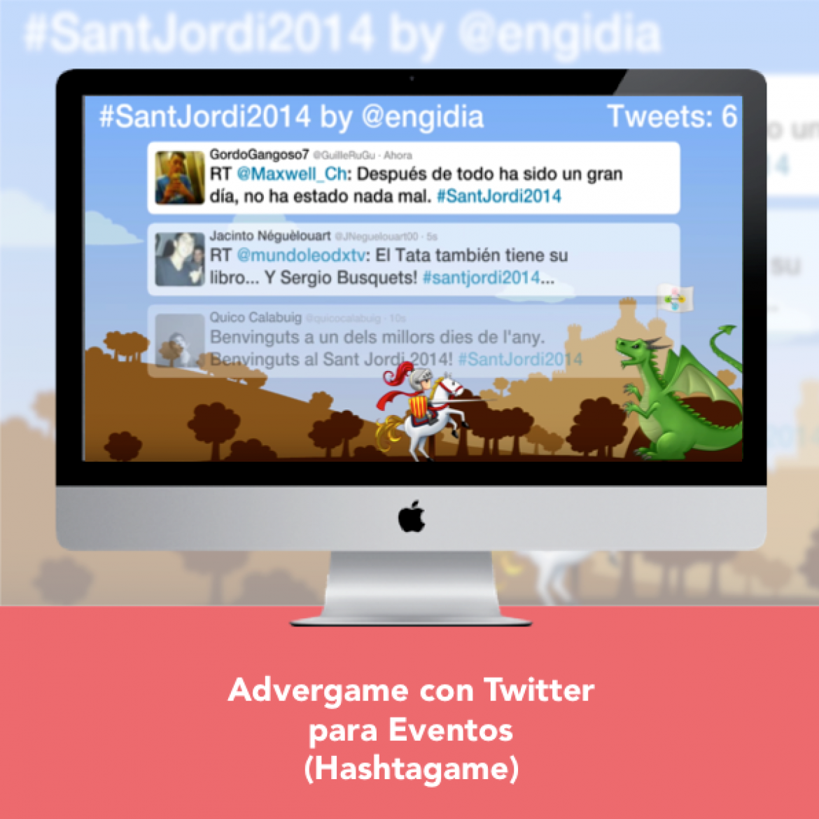 Advergame con Twitter para Eventos - Engidia