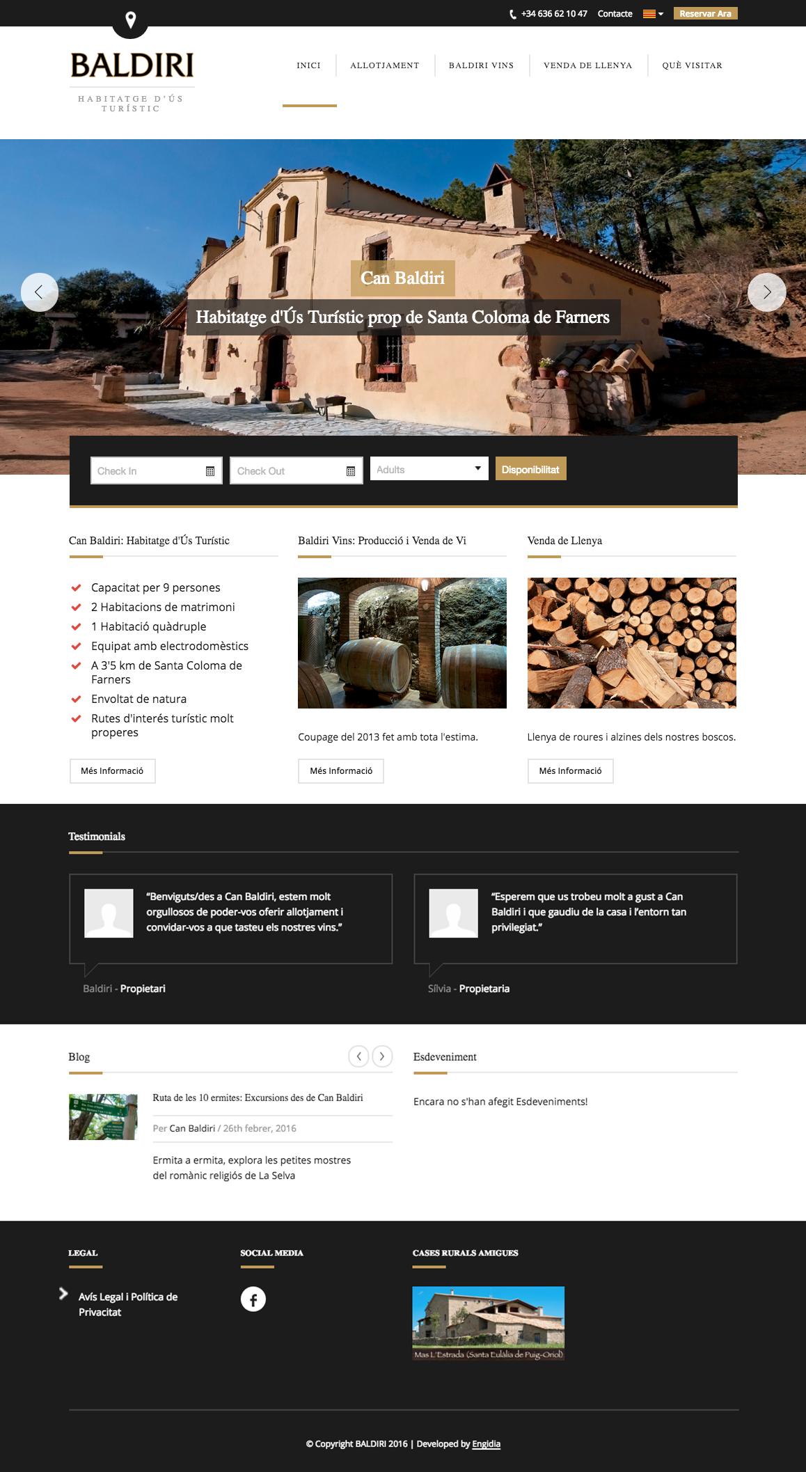 Diseño Web - Alojamiento Rural - Engidia