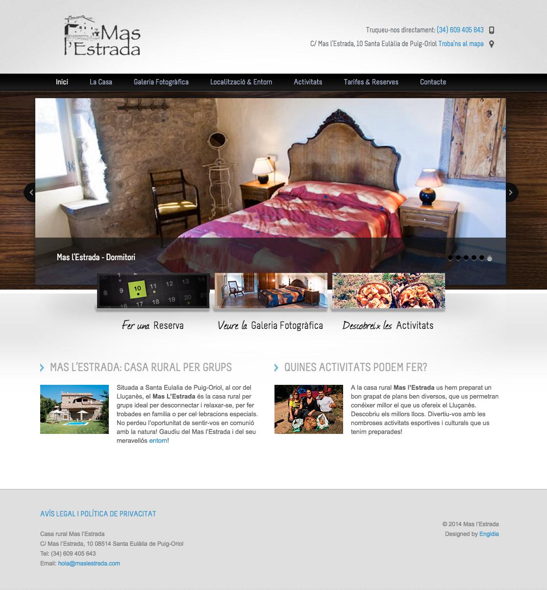 Diseño Web - Alquiler Turístico - Engidia
