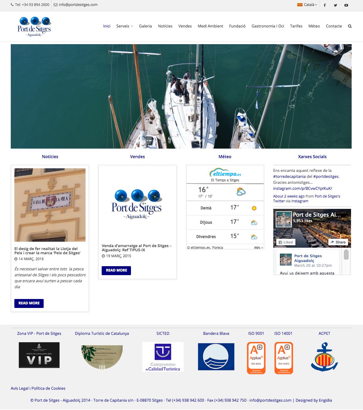 Diseño Web - Port de Sitges - Engidia
