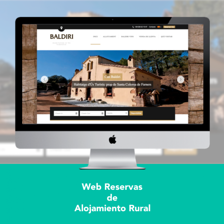 Diseño Web Reservas Alojamiento Rural - Engidia
